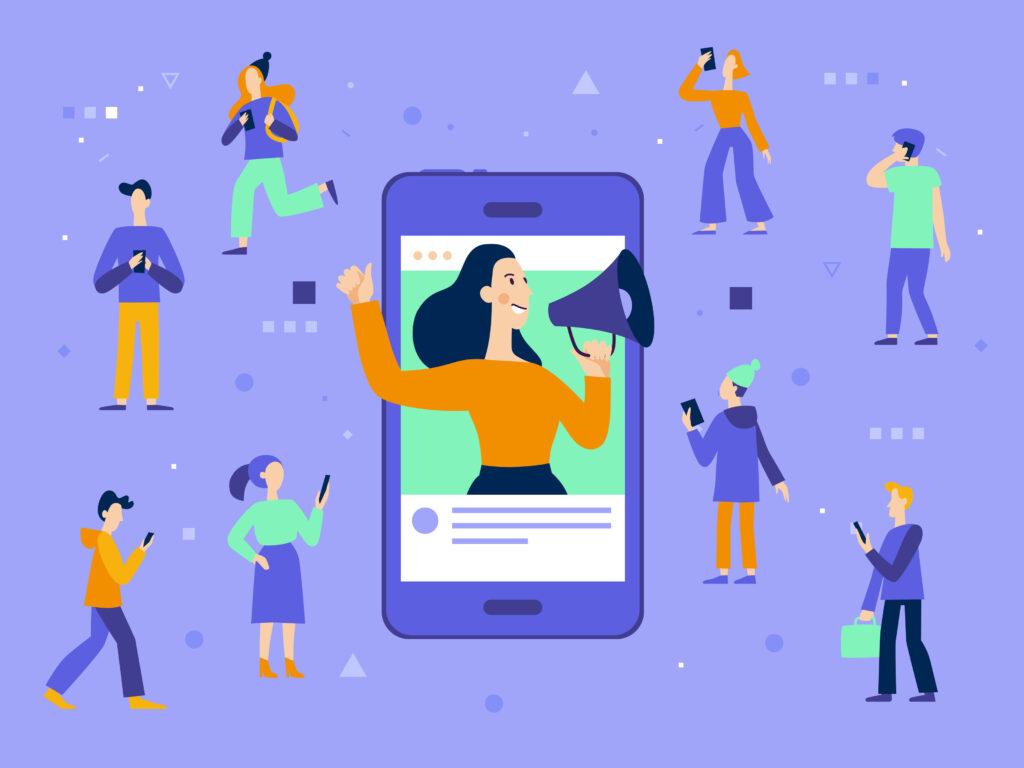 vector illustration symbolizing social media marketing