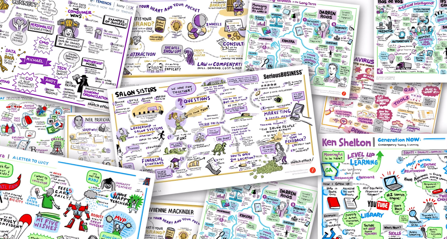 Collage of graphic recordings