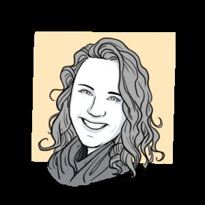 Animated headshot of Sketch Effect team member Andie Knudson