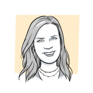 Animated headshot of Sketch Effect team member Meg Harrison