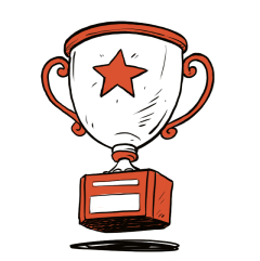 Animated sketch of a trophy