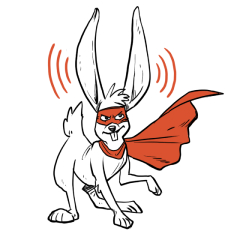 Animated sketch of a jack rabbit