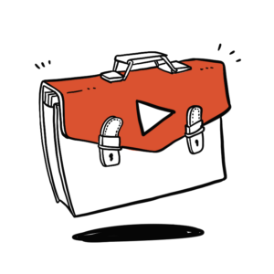 Animated sketch of a briefcase